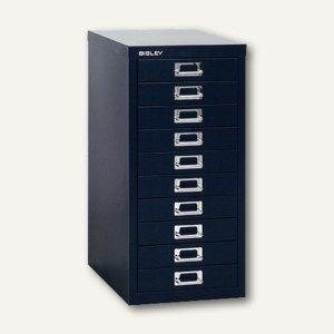 Bisley Schubladenschrank Basis 10er, H 590 x B 278 x T 380 mm, schwarz,L2910-633