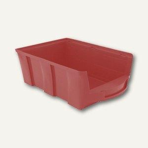 VISO Lagersichtkasten, 28 Liter, rot, STAR5R