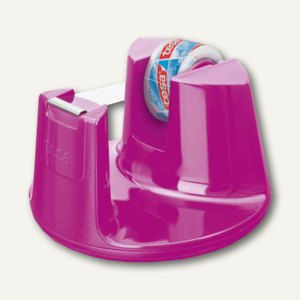 Tesa Tischabroller Easy Cut Compact, 33 m x 19 mm, pink, 53823-00000-01