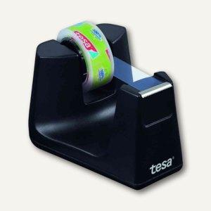 Tesa Tischabroller Smart ecoLogo, bis 33 m x 19 mm, schwarz, 53904-00000-00