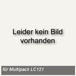 Brother Tintenpatronen Multipack, bk,C,M,Y, je ca. 300 Seiten, LC121VALBP
