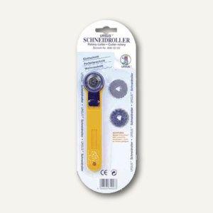 Ursus Rollmesser, für Glatt-, Perforier- & Wellenschnitte, gelb/blau, 8960000