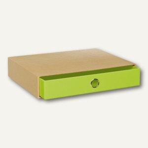 Rössler NATURE GREEN Schubladenbox für DIN A4, grün, 3er Pack, 15241105000