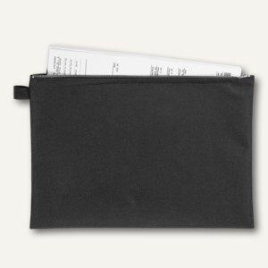 Veloflex Banktaschen A4, Reißverschluss, schwarz, 10 Stück, 2724000