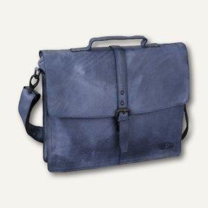 Pride & Soul Businesstasche JAYDEN, iPad-Fach, Leder, blau, 47205