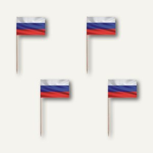 """Papstar Deko-Picker """"Russia"""", L 8 cm, 3.000er-Pack, 81615"""