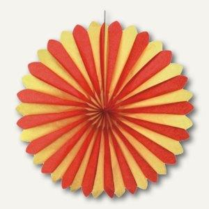 Dekofächer rot/gelb/rot