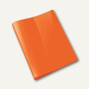 Ringbücher PROPYGLASS® Viquel A4, 4-Rund-Ringe Ø 20 mm, transluzent-orange, 12 S