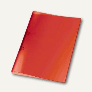 Ringbücher PROPYGLASS® Viquel A4, 2-Ringe Ø 20 mm, transluzent-rot, 25 Stück, V0