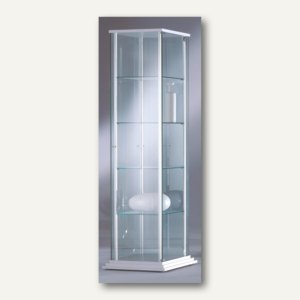 BST Ganzglasvitrine FORUM 3 - 176x51x51 cm, Stufensockel, ESG-Glas, FORUM-FMG3