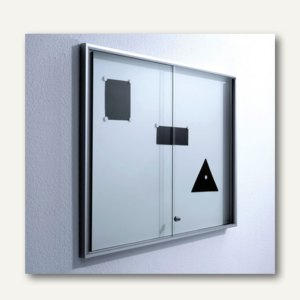 BST Schauvitrine INDEX-V8, Magnetrückwand, 1540x970x46, ESG-Glas, INDEX-V8/SG