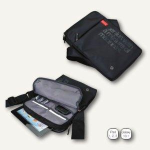 Tablet PC Umhängetasche GENIUS mit Neopren-Einsatz, Nylon, schwarz, 46107