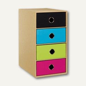 NATURE MIX 4er Schubladenbox DIN A5