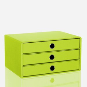 Rössler S.O.H.O. 3er Schubladenbox DIN A4, limette, 1524452323