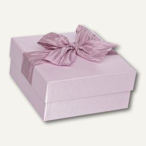 Violet Box, quadratisch mit Schleife, 195 x 195 x 90 mm, 2er Pack, 1342429002