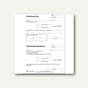 RNK Urlaubsantragblock, DIN A5, 50 Blatt, 2915