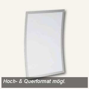 Durable Informationsträger DURAVIEW Wall, Wandmontage, DIN A4, silber, 498323