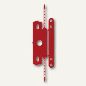 Heftstreifen mit Deckschiene, PP ohne Metall, 30 x 80 mm, rot, 50er Pack, 1849-2