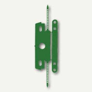 Heftstreifen mit Deckschiene, PP ohne Metall, 30 x 80 mm, grün, 50er Pack, 1849-