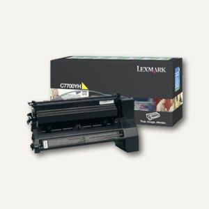 Lexmark C77X Rückgabe-Toner gelb - ca. 10.000 Seiten, C7700YH