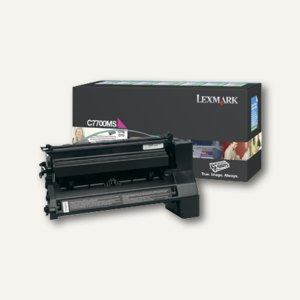 Lexmark Rückgabe-Tonerkassette C770X, ca. 6.000 Seiten, magenta, C7700MS