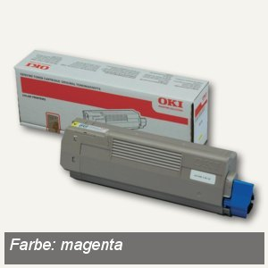 OKI Tonerkartusche C610, ca. 6.000 Seiten, magenta, 44315306
