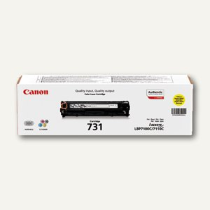 """Canon Lasertoner """"731Y"""", ca. 1.500 Seiten, gelb, 6269B002"""