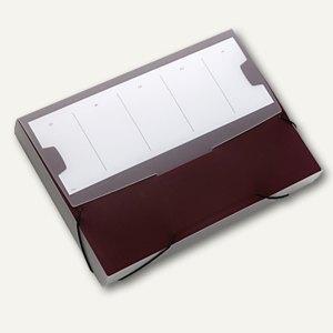 Durable Sammelbox SMALL, DIN A4, PP, dunkelrot, 5 Stück, 2473-31