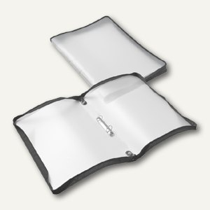 FolderSys Konferenzmappe transparent, A4, Folie matt, schwarz, 2St., 40462-30
