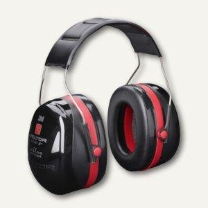 3M Kapsel-Gehörschutz Optime III, Schalldämmung 35dB, schwarz/rot, H540A-411-SV
