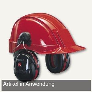 3M Helmkapsel-Gehörschutz Optime III, 30mm-Schlitz, 35dB,schw/rot,H540P3E-413-SV