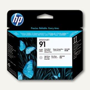 HP Druckkopf Nr. 91 schwarz-foto + grau-hell, 775 ml, C9463A