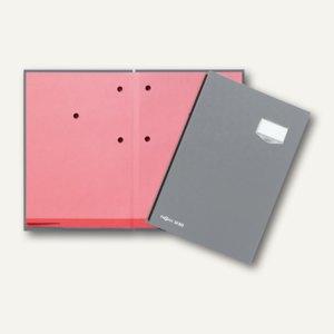 Pagna Unterschriftsmappe DE LUXE, 20 Fächer, Kunststoffeinband, grau, 24202-06