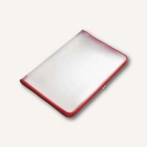FolderSys Konferenzmappe transparent, A3, Folie matt, rot, 2St., 40450-80