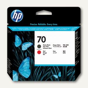 HP Druckkopf Nr. 70, schwarz-matt + rot, 130 ml, C9409A