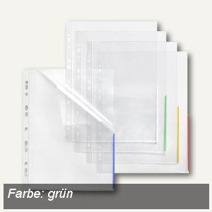 FolderSys Index Prospekthüllen m. Taben, A4, oben+rechts offen, PP, rot, 100St.,
