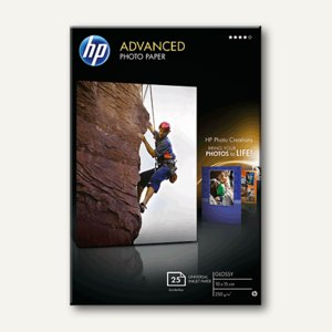 "HP Fotopapier ""Advanced"", glänzend, 250 g/m², 10 x 15 cm, 25 Blatt, Q8691A"