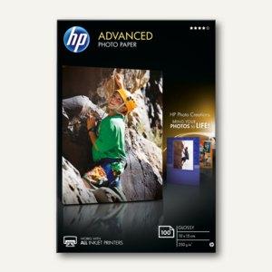 "HP Fotopapier ""Advanced"", glänzend, 250 g/m², 10 x 15 cm, 100 Blatt, Q8692A"