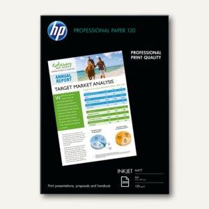 HP Professional InkJet-Papier, seidenmatt, DIN A4, 120 g/m², 200 Blatt, Q6593A