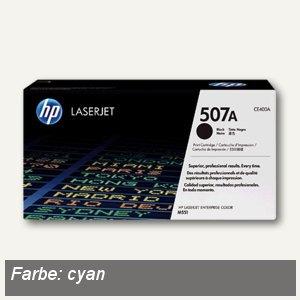 HP Lasertoner 507A, ca. 6.000 Seiten, cyan, CE401A