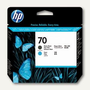 HP Druckkopf Nr. 70, matt-schwarz + cyan, 130 ml, C9404A