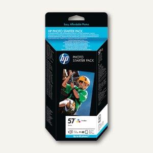 HP Tintenpatrone Nr.57, farbig + 60 Blatt 10 x 15 cm-Papier, Q7942A
