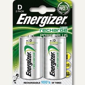 Energizer Akkus PowerPlus, 2500 mAh, Mono D, HR20, 2 Stück, 635675