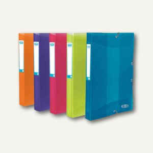 """Sammelbox """"ELBA School Life"""", Breite 25 mm, DIN A4, PP, sortiert, 10St., 4000065"""