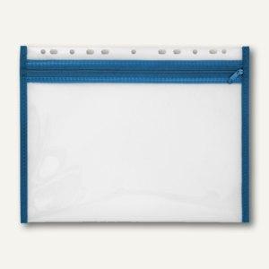 Reißverschlusstasche VELOBAG XS, A4, abheftbar, Eurolochung, blau, 4354050