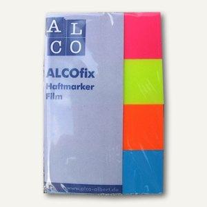 "Alco Haftmarker ""Rechtecke"", 20x50 mm, rot/gelb/orange/blau, 4x40 Stück, 6832"
