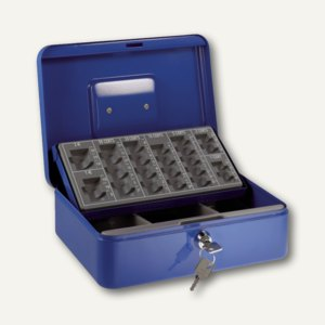 Alco Euro-Zählkassette, herausnehmb. Münzeinsatz, 250 x 180 x 90 mm, blau, 874