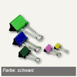 officio Foldback-Klammern, B 32 mm, vernickelt, schwarz, 12 Stück, 783S11