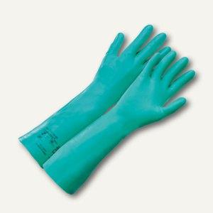 Schutzhandschuhe Camatril® Velours 732, Lange Stulpe,Nitril,Größe 8,10 Paar, 732