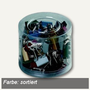 officio Foldback-Klammern Sortiment, B 15 mm, sortiert, 60 Stück, 779